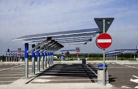 Solar Canopy by Ge Converts Parking Lot To Solar Charging Station For Electric