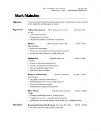 Resume Sample Dishwasher by Busboy Resume Examples Template