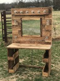 Diy Pallet Wood Distressed Table Computer Desk 101 Pallets by The 25 Best Pallet Desk Ideas On Pinterest Corner Desk Diy