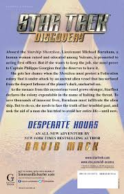 Barnes And Noble Hr Access Website Star Trek Discovery Desperate Hours Book By David Mack