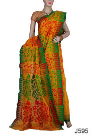 dhakai jamdani stylish handloom dhakai jamdani saree j595 banglarsare