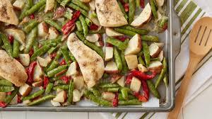 super easy chicken and vegetables sheet pan dinner pillsbury com