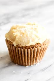 gluten free carrot cake cupcakes with cashew cream cheese frosting