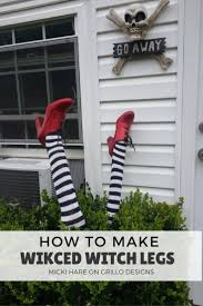 cool halloween yard decorations the 25 best witch legs ideas on pinterest pool noodle halloween