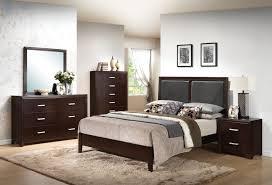 Jansey Upholstered Bedroom Set Espresso Bedroom Set Queen Marlina 5piece Leons Dresser Frame