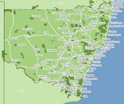 map of new south wales map of nsw australia major tourist attractions maps