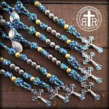 15 decade rosary fatima rosary paracord traditional but strong and rugged