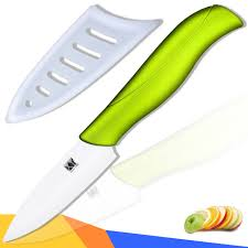 best ceramic kitchen knives quality ceramic knife 3 inch paring knife green handle white balde