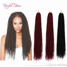 bohemian human braiding hair 24inch 2x pre loop island twist crochet hair extensions 30roots