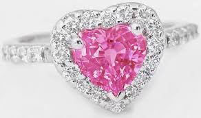 heart rings diamond images Pink gemstone rings with heart shape pink sapphire gr 5605 jpg