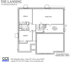 us homes floor plans the lansing ranch floor plan ccs homes des moines iowa