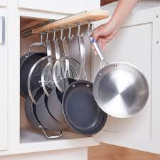 kitchen cabinet door pot and pan lid rack organizer 12 creative solutions for storing pots and pans the family