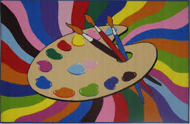 Colorful Kids Rugs by Painting Time