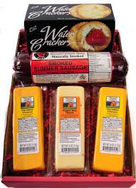 Cheese And Cracker Gift Baskets Wisconsin Cheese Sausage And Cracker Gift Box