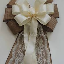 church pew decorations best burlap wedding bows for pews products on wanelo