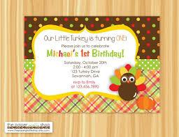 thanksgiving 1st birthday invitations happy thanksgiving