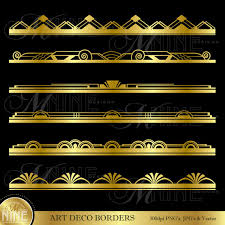 printable art deco borders gold art deco border clip art art deco design elements