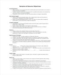 resume with objective sample download button resumes objectives