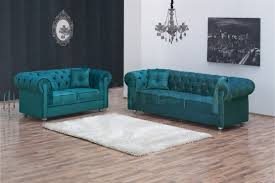 Teal Tufted Sofa by Turquoise Sofa 4393