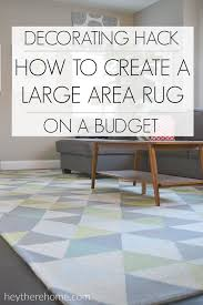 How To Make A Area Rug Who Knew One Thing Could Instantly Change The Look Of My Family Room