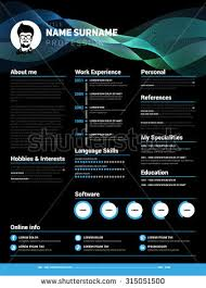 Resume Sample For Graphic Designer by Cv Template Stock Images Royalty Free Images U0026 Vectors Shutterstock
