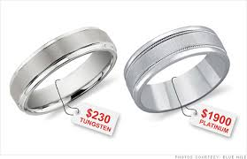 wedding band costs tungsten cobalt steel replacing gold in wedding rings sep 1 2011