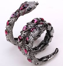 crystal snake bracelet images Stretch snake bracelet armlet upper arm cuff nbsp for women punk jpg