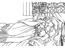 sleeping beauty coloring pages cartoon bebo pandco