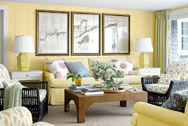 soft yellow paint color for living room in country style with a