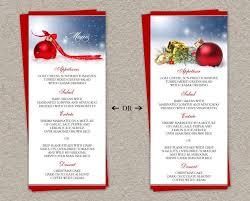 diy wedding menu cards christmas menu card template free consciousbeingwellness