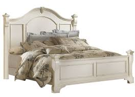 Heirloom Bedroom Furniture by Woodcrafters Heirloom Collection Queen Poster Bed In Antique White