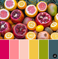 a tropical fruit inspired color palette pomegranate pink