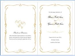 wedding programs template free free ms word family wedding program template formal word templates