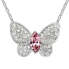 prom jewelry wholesale fashion butterfly pendant necklace prom jewelry