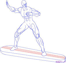 how to draw the silver surfer step by step marvel characters