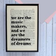 Anchor Print Inspirational Print Quot - inspirational dreamers of dreams graduation print by bookishly