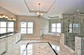 luxurious modern bathroom with granite porcelain wall tiles and