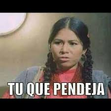 Memes India Maria - tu que pendeja jajaja chingaderas mexican humor pinterest