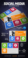 Social Network Business Card Print Templates Social Media Visit Card Graphicriver Cool
