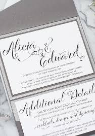 silver wedding invitations silver and white wedding invitations 25 silver wedding