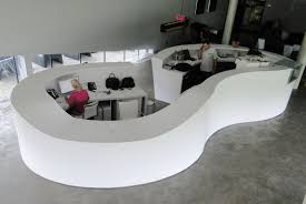 Semi Circular Reception Desk Semicircular Reception Desk Corian Infinity By Labor 13