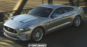 4door mustang 2018 ford mustang sedan takes a fictitious swing at dodge charger
