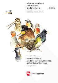 Wellmann K Hen Rote Liste Der In Niedersachsen Und Bremen Gefährdeten Brutvögel