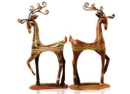 buy handicrafts online rein deer showpiece home decor design