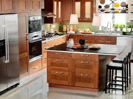ikea adel medium brown kitchen cabinets smart budget hgtv