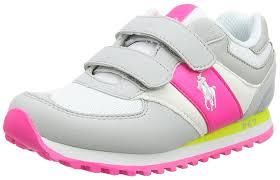 polo ralph lauren slaton unisex kids u0027 low top sneakers grey grau