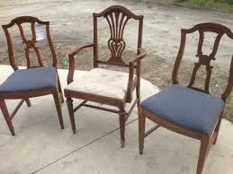 Refinish Dining Chairs Painted Reupholstered Dining Chairs Mix Match Challenge
