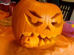 easy scary face pumpkin carving ideas best pumpkin 2017