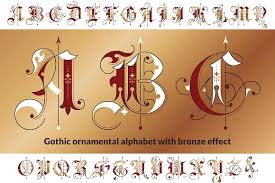 ornamental alphabet blackletter fonts creative market