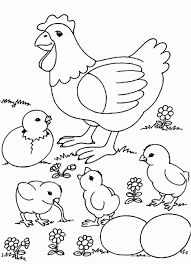 farm animals coloring page coloring pages farm animals coloring pages hens and rooster how